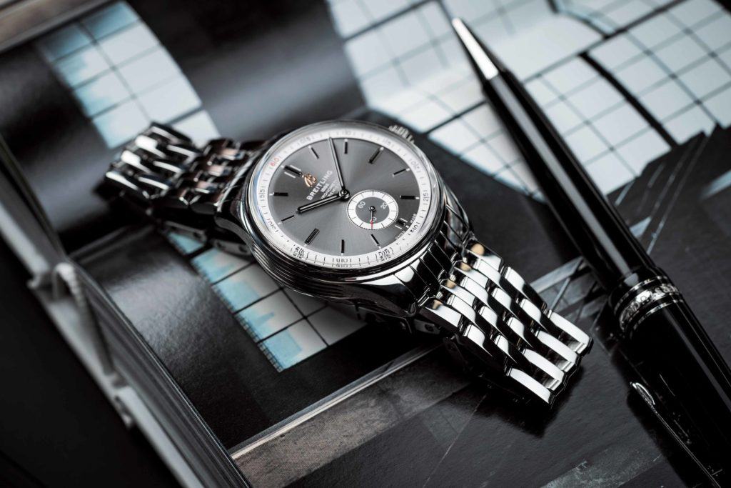 Premier Automatic 40 with anthracite dial and stainless steel bracelet (PPR/Breitling)