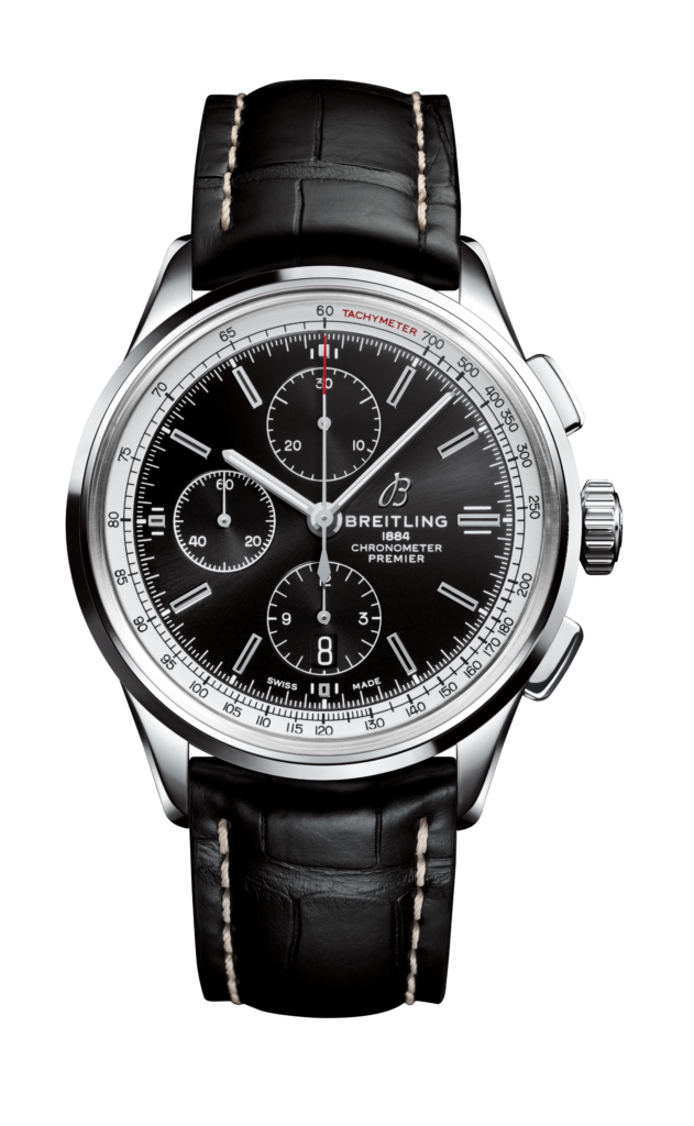 06_Premier_Chronograph_42_with_black_dial_and_black_alligator_leather_strap